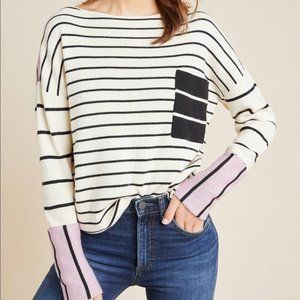 Anthropologie Faye Striped Pullover Sweater